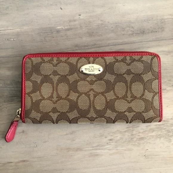 Coach Handbags - Red Coach wallet